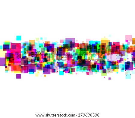 line from colors square - stock vector