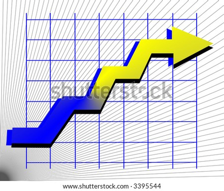 line graph - stock vector
