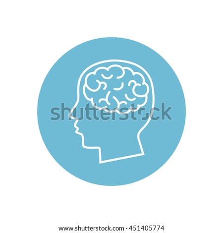 Line icon-  brain - stock vector