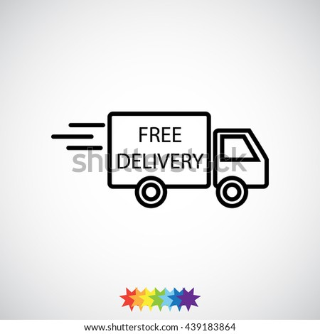 Line icon- Delivery is free - stock vector