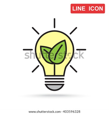 Line icon- eco energy concept