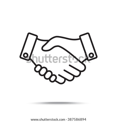 Line icon-   handshake - stock vector
