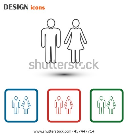 Line icon- man and woman