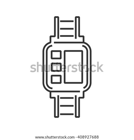 line icon Medical Device Icon, Diabetes Watch - stock vector
