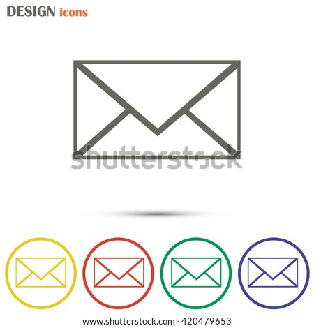 Line icon- Postal envelope