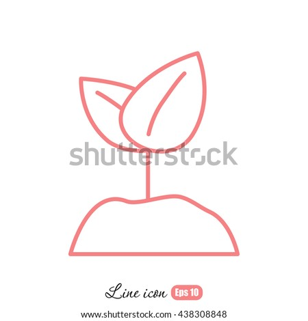 Line icon-  Sprout - stock vector