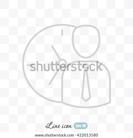 Line icon-   time management - stock vector
