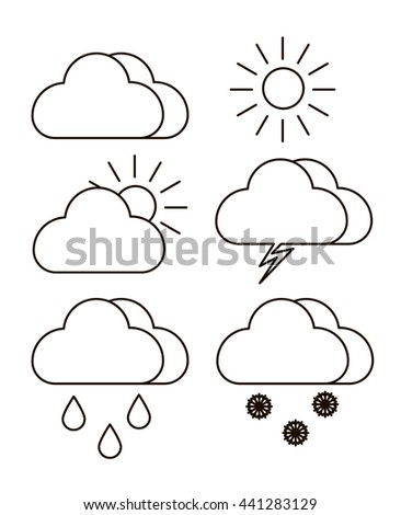 Storm Cloud Sky Coloring Coloring Pages