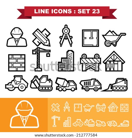 Line icons set 23 .Illustration eps 10 - stock vector