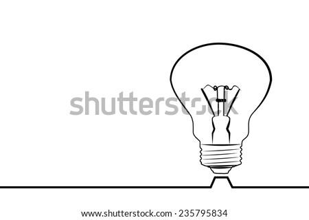 line lamp - stock vector