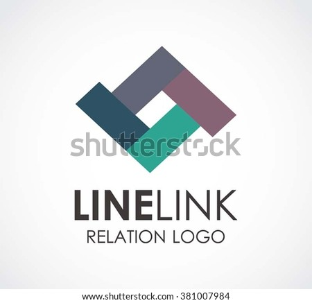 Network Linking Ribbon Chain Abstract Vector Stock Vector