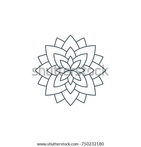 Line lotus flower flower life sacred stok vektr 750232180 line lotus flower or flower of life sacred geometry mandala ornament esoteric or mightylinksfo