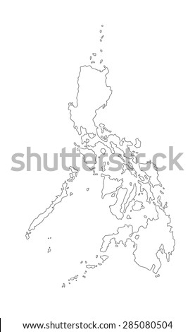line map of Philippines