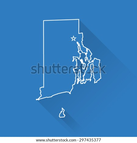 Line Map of Rhode Island