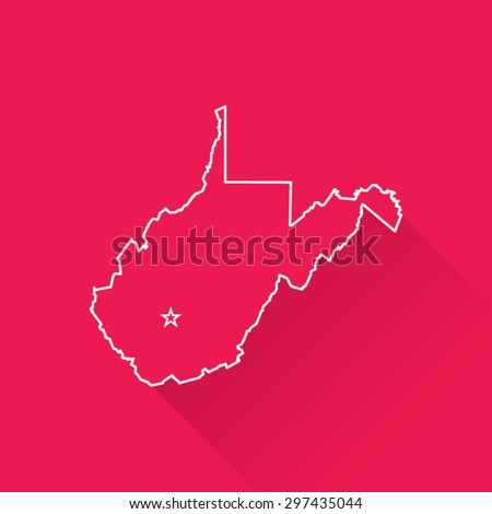 Line Map of West Virginia - stock vector