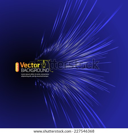 line speed - stock vector
