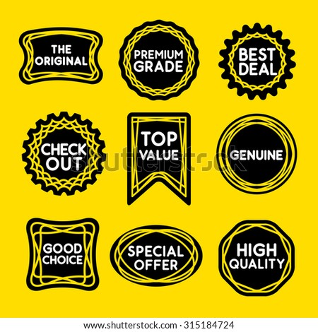 LINE STAMP graphic for seal, sticker or stamp with words to promote at the point of sale.