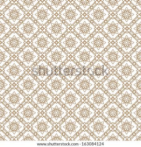 Line thai art pattern illustration. - stock vector
