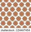 Line thai art pattern vector illustration. - stock vector