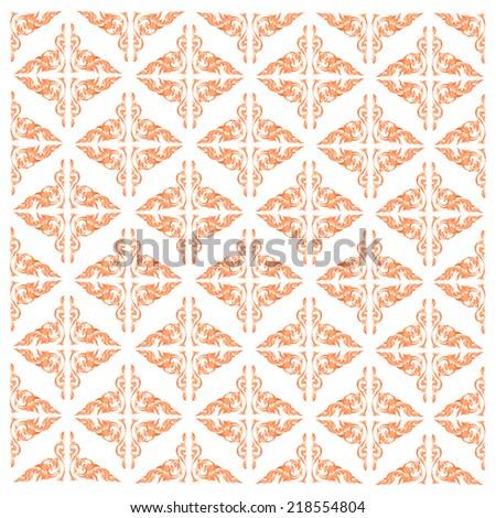 Line Thai art pattern vector illustration - stock vector