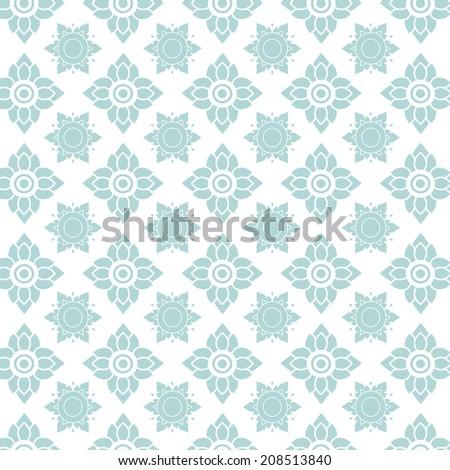 Line thai  pattern vector illustration vintage style   - stock vector