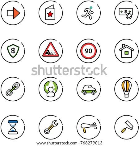 Line Vector Icon Set Right Arrow Stock Vector 768279013 Shutterstock