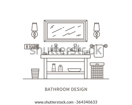 Bathroom Outline Stock Images, Royalty-Free Images ...