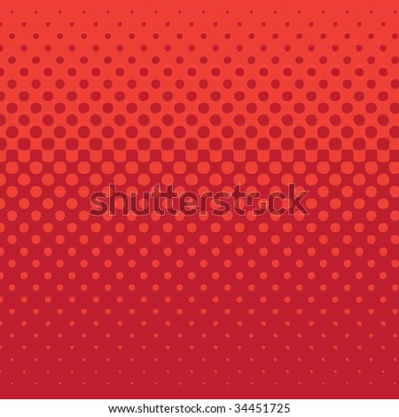 linear halftone tone background red - stock vector