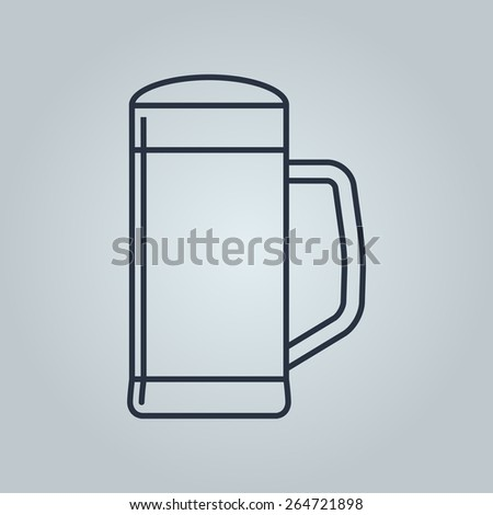 Linear icon of beer  - stock vector