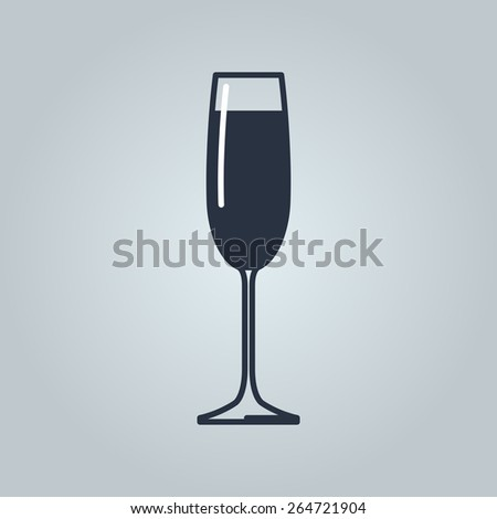 Linear icon of champagne  - stock vector