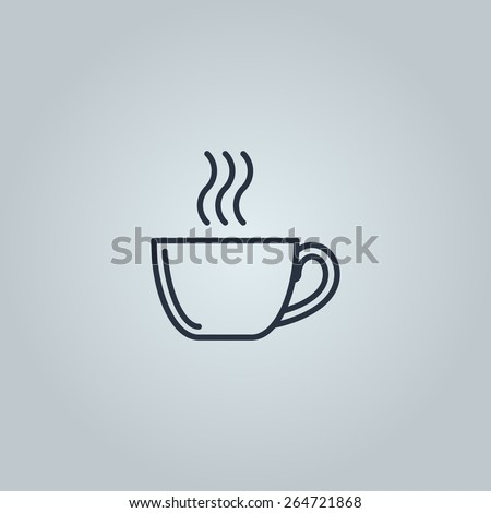 Linear icon of coffee  - stock vector