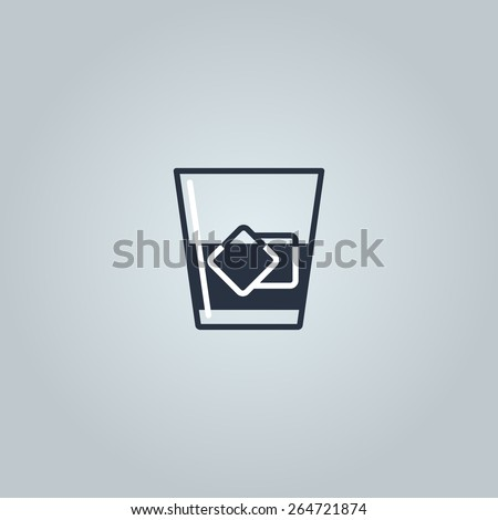 Linear icon of whiskey  - stock vector