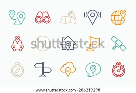 Linear Navigation icon - stock vector