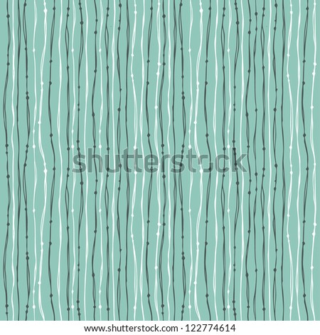 Linear seamless blue texture. Endless abstract pattern with lines. Template for design and decoration wrapping paper, textile, backgrounds, package - stock vector