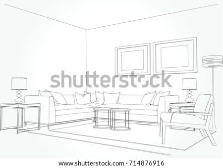 tweepunt perspectief tekenen besides  likewise  besides one point perspective sofa besides one point perspective from dorm room. on 2 point perspective living room drawing