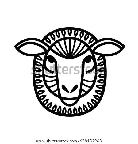 Sheep Head Stock Images Royalty Free Vectors