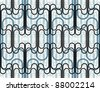 Lined seamless pattern, vector background. - stock vector