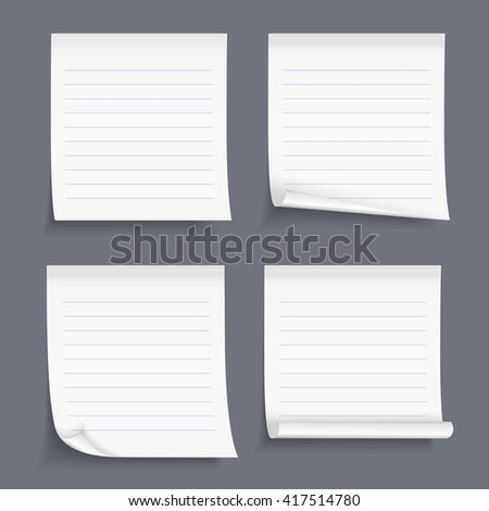 Paper Tape Blank Lined Paper Notes Vector 420970567 – Lined Blank Paper