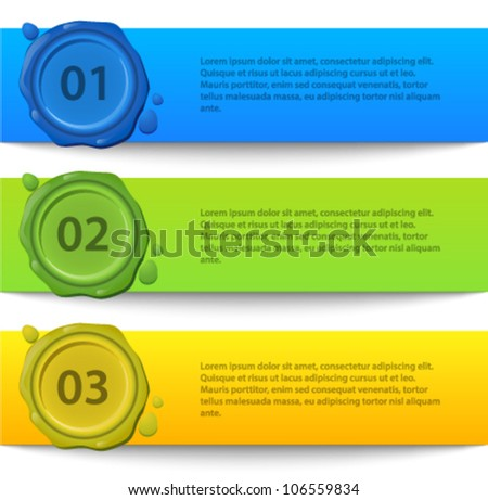 Lines and numbers website design elements - stock vector