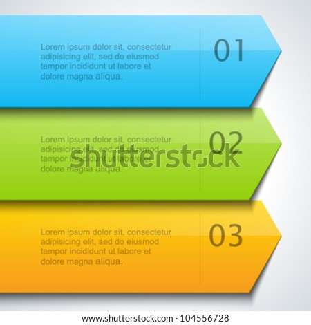 Lines and numbers website design elements eps 10. - stock vector