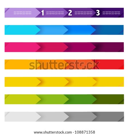 Lines And Numbers Website Design Elements, Vector Illustration - stock vector