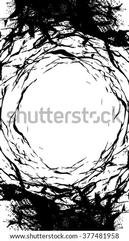 lines and scratches texture background vector illustration in black and white - stock vector