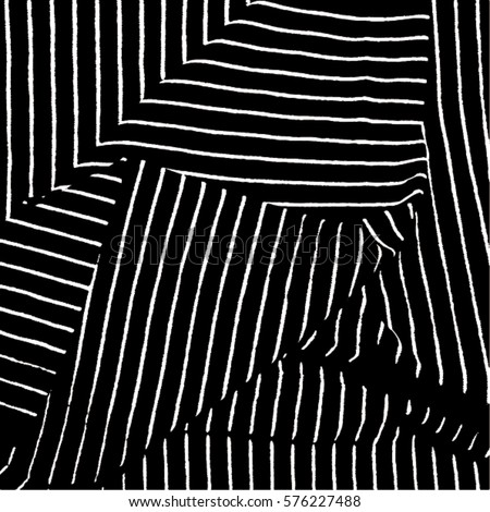 Lines. Black & white backdrop. Dimensional vector background.