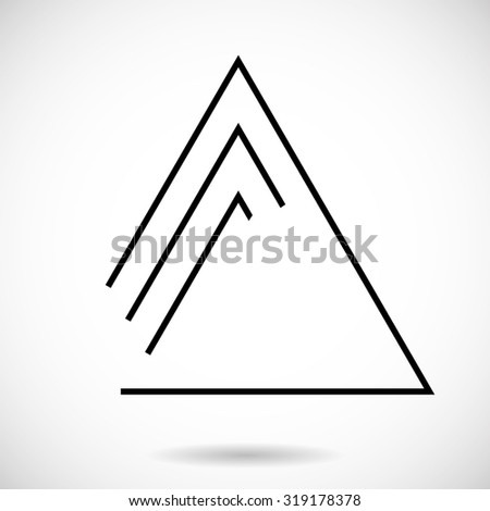 Lines Design . Vector Triangle Background . - stock vector