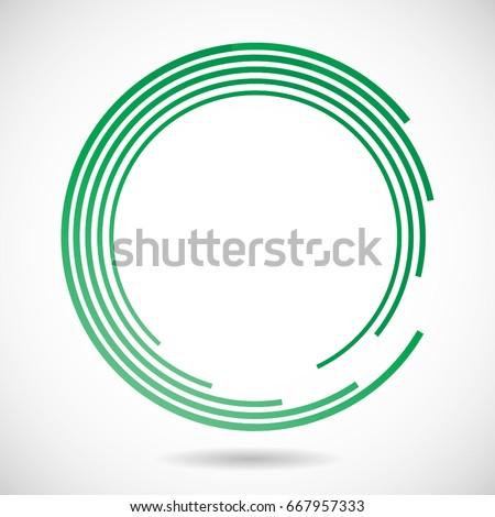 Lines Circle Form Vector Abstract Logo Stock Vector 667957333 ...