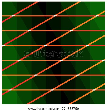 Lines on a green background