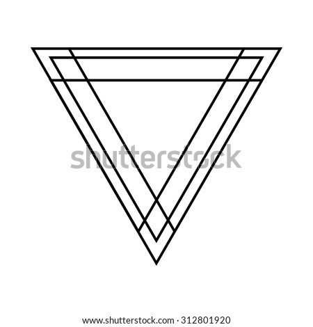 Lines Vector Triangle Background . Modern Geometrical Design Template . - stock vector