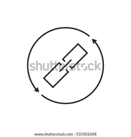 link exchange thin line icon. concept of chainlink, safety, virtual, database, synchronization, remote, sync. isolated on white background. flat style trend modern logo design vector illustration - stock vector