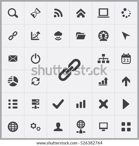 link icon. development, soft icons universal set for web and mobile