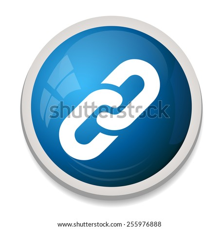 Link sign icon. Hyperlink chain button. - stock vector